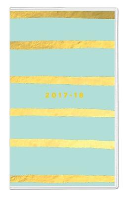 2017-2018 Ashley G for Blue Sky 3.625x6.125 Planner, Hand Stripe Mint (102805)
