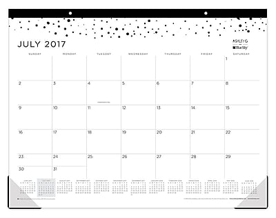 2017-2018 Ashley G for Blue Sky 22x17 Desk Pad,Scatter Dot (102806)