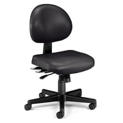 OFM 24 Hour Intensive Use Task Chair, Armless, Black Anti-Microbial Anti-Bacterial Vinyl