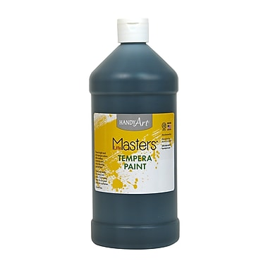 Little Masters Non-toxic 32 oz. Tempera Paint, Black (203-755)