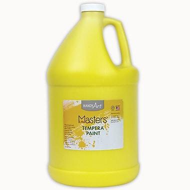 Little Masters Non-toxic 128 oz. Tempera Paint, Yellow (RPC204710)