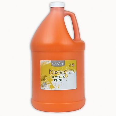 Little Masters Non-toxic 128 oz. Tempera Paint, Orange (RPC204715)