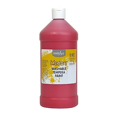 Little Masters Non-toxic 32 oz. Washable Paint, Red (RPC213720)