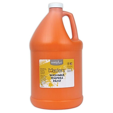 Little Masters 128 oz. Washable Paint, Orange (214715)