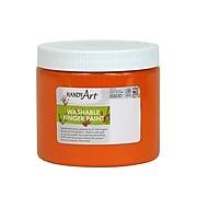 Handy Art Washable Finger Paint, Orange, 16 oz (RPC241015)