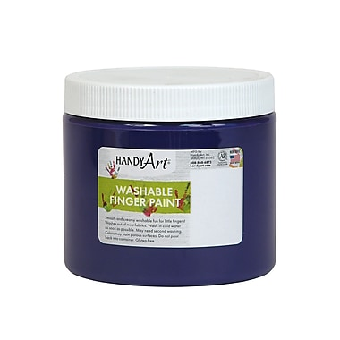 Handy Art Non-toxic 16 oz. Washable Finger Paint, Violet (RPC241040)