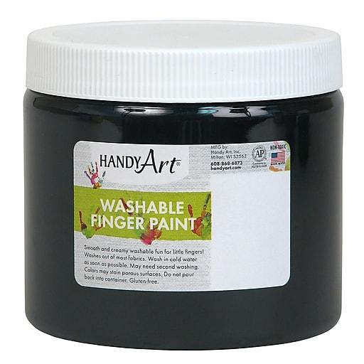 Handy Art® Washable Finger Paint, 16 oz., Black