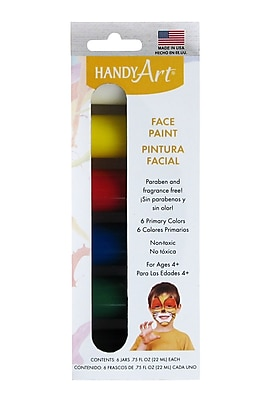 Rock Paint Handy Art® Washable Face Paint Kit, 3/4 oz. Bottles, Set of 6 (RPC882550J)