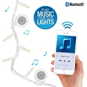 Bright Tunes Indoor/Outdoor White Incandescent String Lights with Bluetooth Speakers White