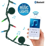 Bright Tunes Indoor/Outdoor Multi Colored String Lights with Bluetooth Speakers