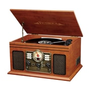 Victrola Wooden 6-in-1 Nostalgic Record Player with Bluetooth and 3 Speed Turntable Mahogany