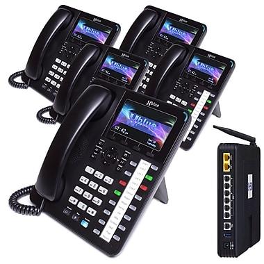 X5045 XBLUE X50 VoIP System Bundle with (5) X4040
