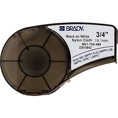 Brady Label Cartridge for BMP21 Series, ID PAL, LabPal Printers, White (M21-750-499)