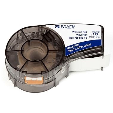 Brady Label Cartridge for BMP21 Series, ID PAL, LabPal Printers, Red (M21-750-595-RD)