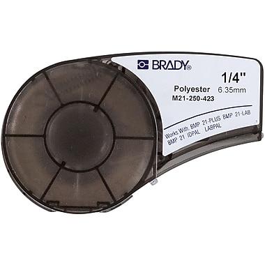 Brady - Cartouche d'étiquettes pour imprimante BMP21-PLUS, blanc (M21-250-423)