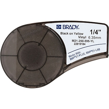 Brady Label Cartridge for BMP21-PLUS Printer, Yellow (M21-250-595-YL)