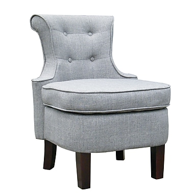 Zipdecor Dinan Swoop Back Chair, Grey (ZD131701GRY)