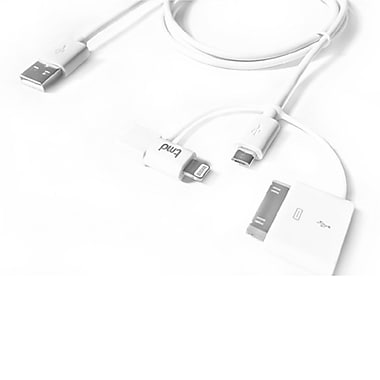 tmd Trident Micro USB/Lightning/30-pin Charger, 3.3 ft (CA4L-01WH)