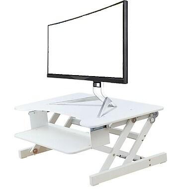 Rocelco – Plateforme à hauteur réglable ADR-W pour bureau assis/debout, 32 po, blanc