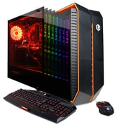 CYBERPOWERPC Gamer Master GMA420 Desktop (AMD Ryzen 5 1600X, 2TB HDD+240GB SSD, 16GB DDR4, Win 10, AMD RX 580)