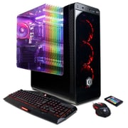 CYBERPOWERPC Gamer Master GMA390 (AMD Ryzen 5 2600, 120GB SSD+2TB HDD, 16GB DDR4, Win 10, NVIDIA® GeForce® GTX 1050Ti)