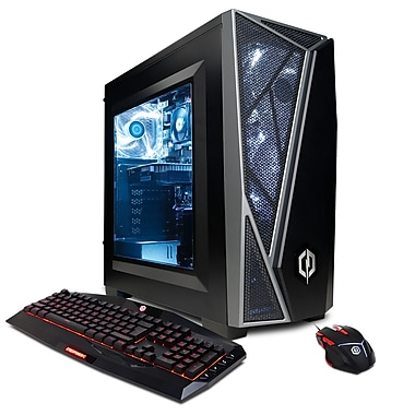 CyberPowerPC Gamer Xtreme GXI10082OPT Desktop PC, 3.0 GHz Core i5-7400, 1 TB HDD, 8 GB DDR4, NVIDIA GeForce GTX 1050 Ti, Win10