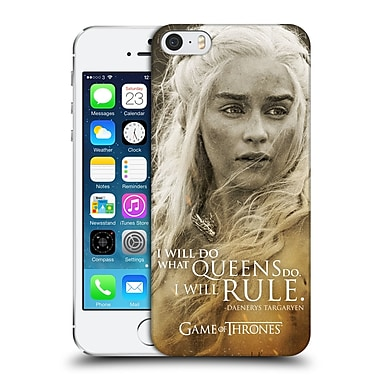 Official Hbo Game Of Thrones Character Portraits Daenerys Targaryen Hard Back Case For Apple Iphone 5 / 5S / Se