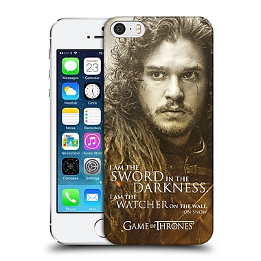 Official Hbo Game Of Thrones Character Portraits Jon Snow Hard Back Case For Apple Iphone 5 / 5S / Se