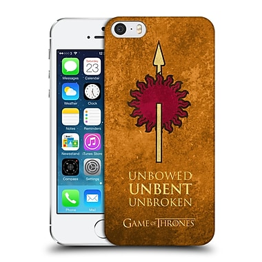Official Hbo Game Of Thrones Dark Distressed Sigils Martell Hard Back Case For Apple Iphone 5 / 5S / Se