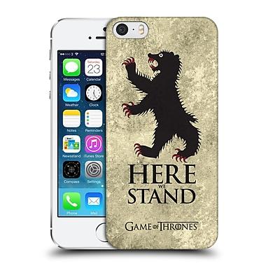 Official Hbo Game Of Thrones Dark Distressed Sigils Mormont Hard Back Case For Apple Iphone 5 / 5S / Se