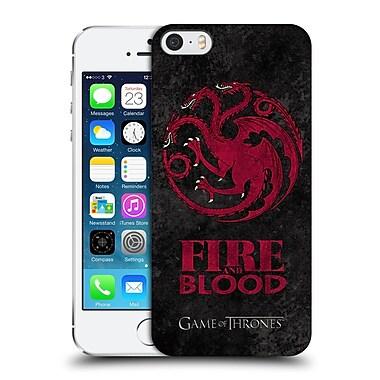 Official Hbo Game Of Thrones Dark Distressed Sigils Targaryen Hard Back Case For Apple Iphone 5 / 5S / Se