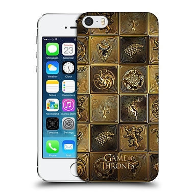 Official Hbo Game Of Thrones Golden Sigils All Houses Hard Back Case For Apple Iphone 5 / 5S / Se