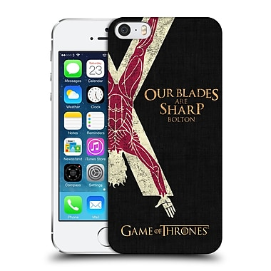 Official Hbo Game Of Thrones House Mottos Bolton Hard Back Case For Apple Iphone 5 / 5S / Se