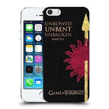 Official Hbo Game Of Thrones House Mottos Martell Hard Back Case For Apple Iphone 5 / 5S / Se