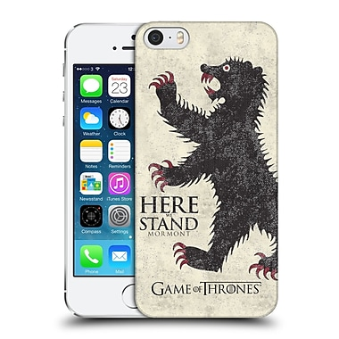 Official Hbo Game Of Thrones House Mottos Mormont Hard Back Case For Apple Iphone 5 / 5S / Se