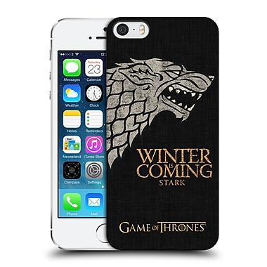 Official Hbo Game Of Thrones House Mottos Stark Hard Back Case For Apple Iphone 5 / 5S / Se