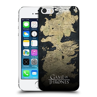 Official Hbo Game Of Thrones Key Art Westeros Map Hard Back Case For Apple Iphone 5 / 5S / Se