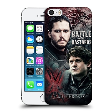Official Hbo Game Of Thrones Battle Of The Bastards Jon Versus Ramsay Hard Back Case For Apple Iphone 5 / 5S / Se