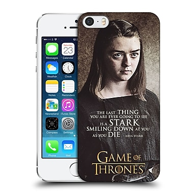 Official Hbo Game Of Thrones Character Quotes Arya Stark Hard Back Case For Apple Iphone 5 / 5S / Se