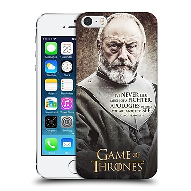 Official Hbo Game Of Thrones Character Quotes Davos Seaworth Hard Back Case For Apple Iphone 5 / 5S / Se