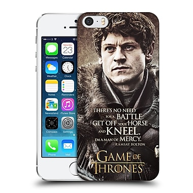 Official Hbo Game Of Thrones Character Quotes Ramsay Bolton Hard Back Case For Apple Iphone 5 / 5S / Se