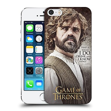 Official Hbo Game Of Thrones Character Quotes Tyrion Lannister Hard Back Case For Apple Iphone 5 / 5S / Se