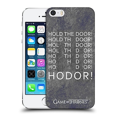 Official Hbo Game Of Thrones Hodor Hold The Door 2 Hard Back Case For Apple Iphone 5 / 5S / Se