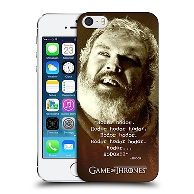 Official Hbo Game Of Thrones Hodor Memorial Type Quote Hard Back Case For Apple Iphone 5 / 5S / Se