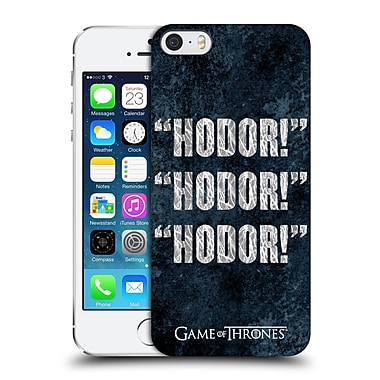 Official Hbo Game Of Thrones Hodor Quote 1 Hard Back Case For Apple Iphone 5 / 5S / Se