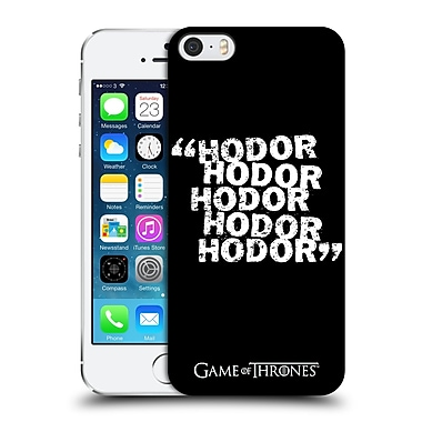 Official Hbo Game Of Thrones Hodor Quote 2 Hard Back Case For Apple Iphone 5 / 5S / Se