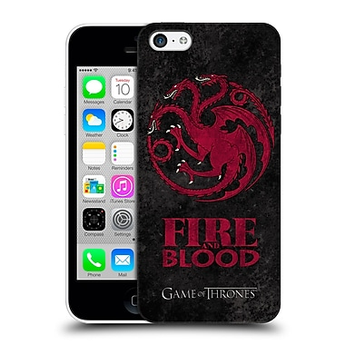 Official Hbo Game Of Thrones Dark Distressed Sigils Targaryen Hard Back Case For Apple Iphone 5C