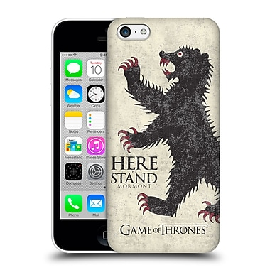 Official Hbo Game Of Thrones House Mottos Mormont Hard Back Case For Apple Iphone 5C