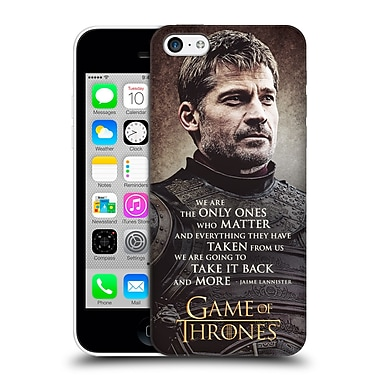 Official Hbo Game Of Thrones Character Quotes Jaime Lannister Hard Back Case For Apple Iphone 5C