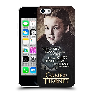 Official Hbo Game Of Thrones Character Quotes Lyanna Mormont Hard Back Case For Apple Iphone 5C